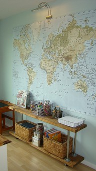 buy wall maps for art projects