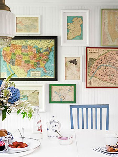 decorate with wall maps